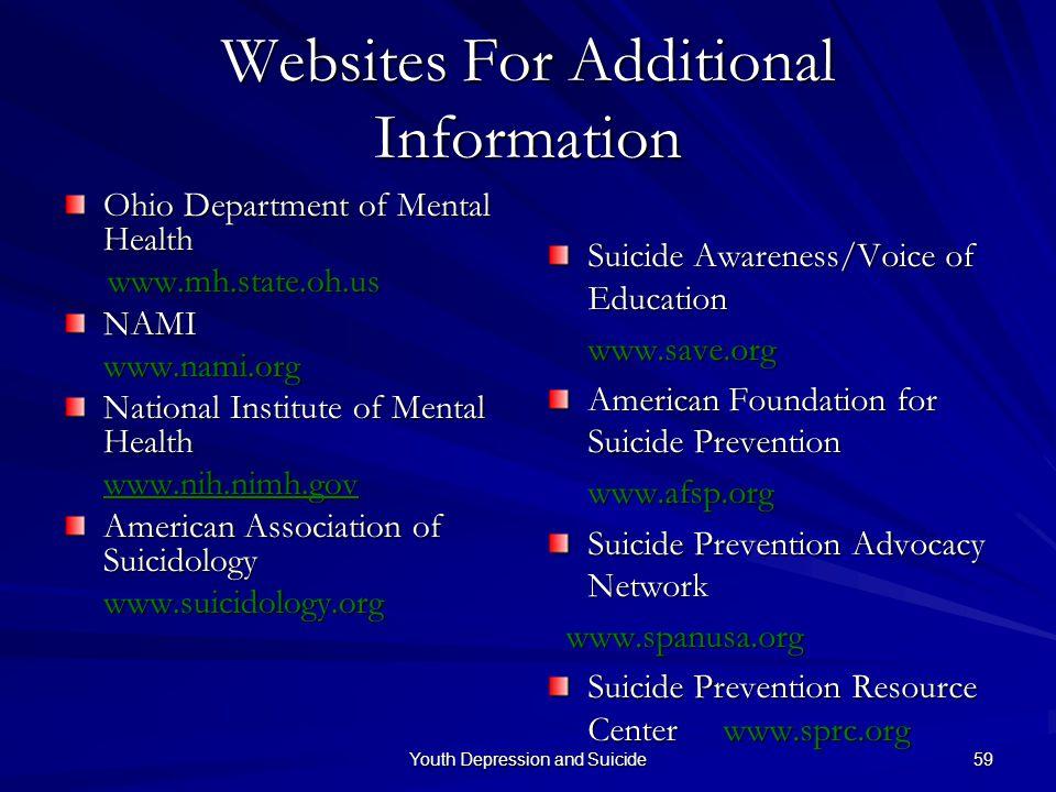 Websites For Additional Information