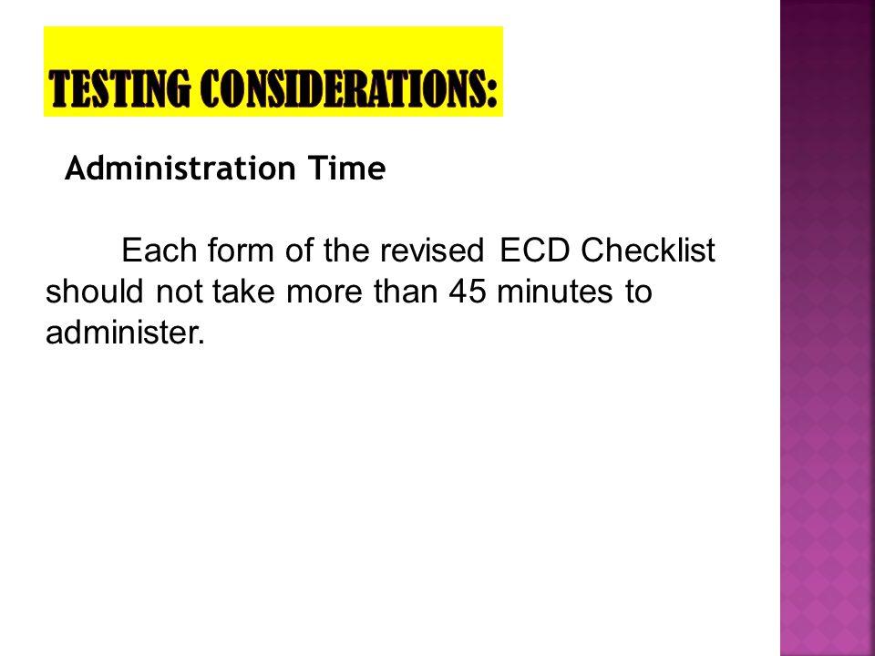 Testing Considerations: