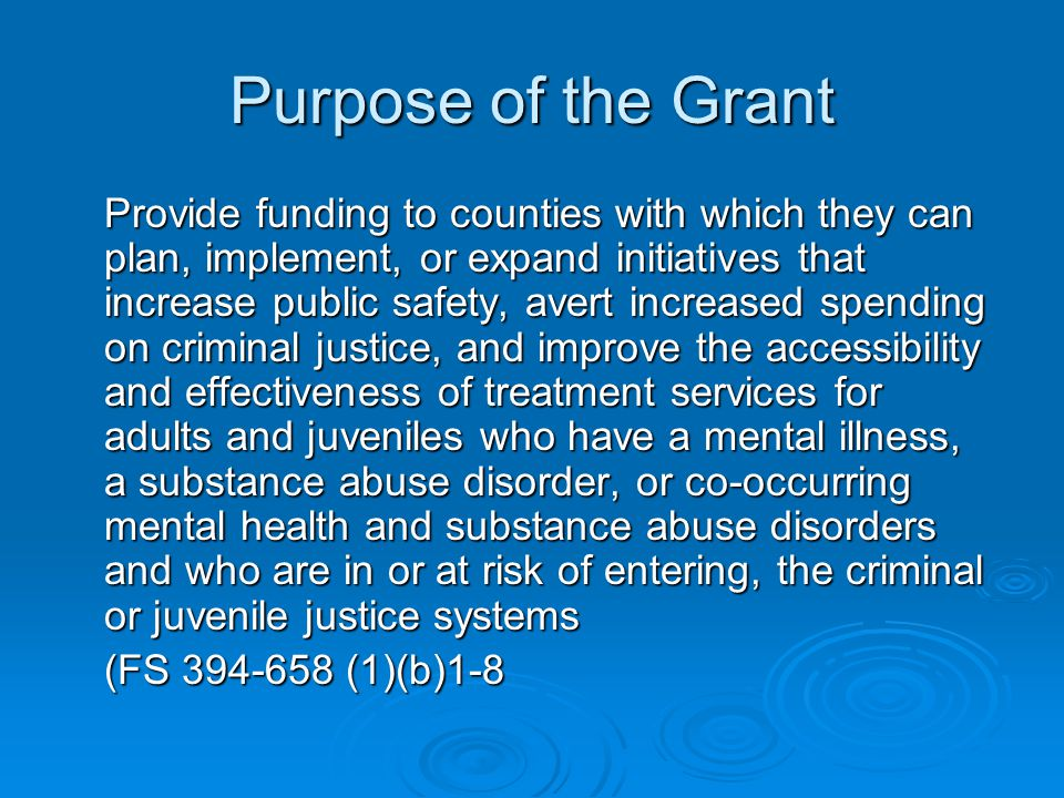 Purpose of the Grant