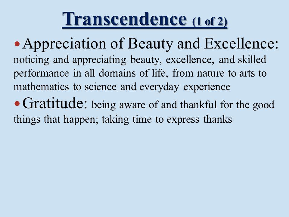 Transcendence (1 of 2)