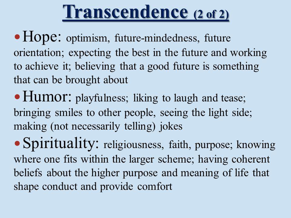 Transcendence (2 of 2)