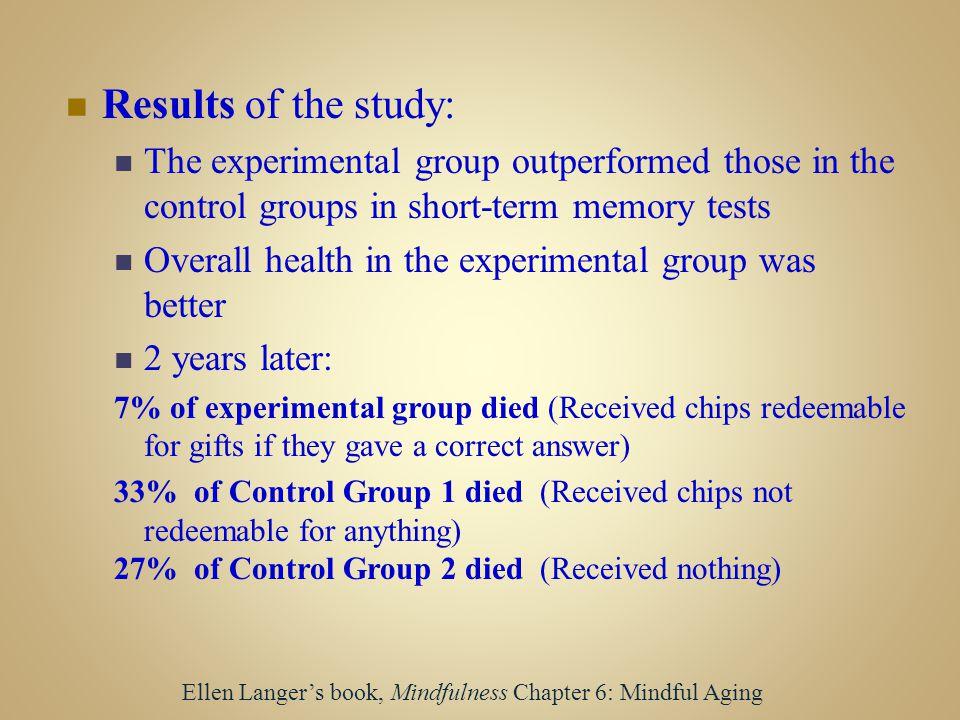 Ellen Langer's book, Mindfulness Chapter 6: Mindful Aging