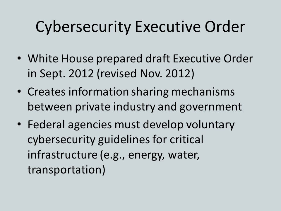 Cybersecurity Executive Order