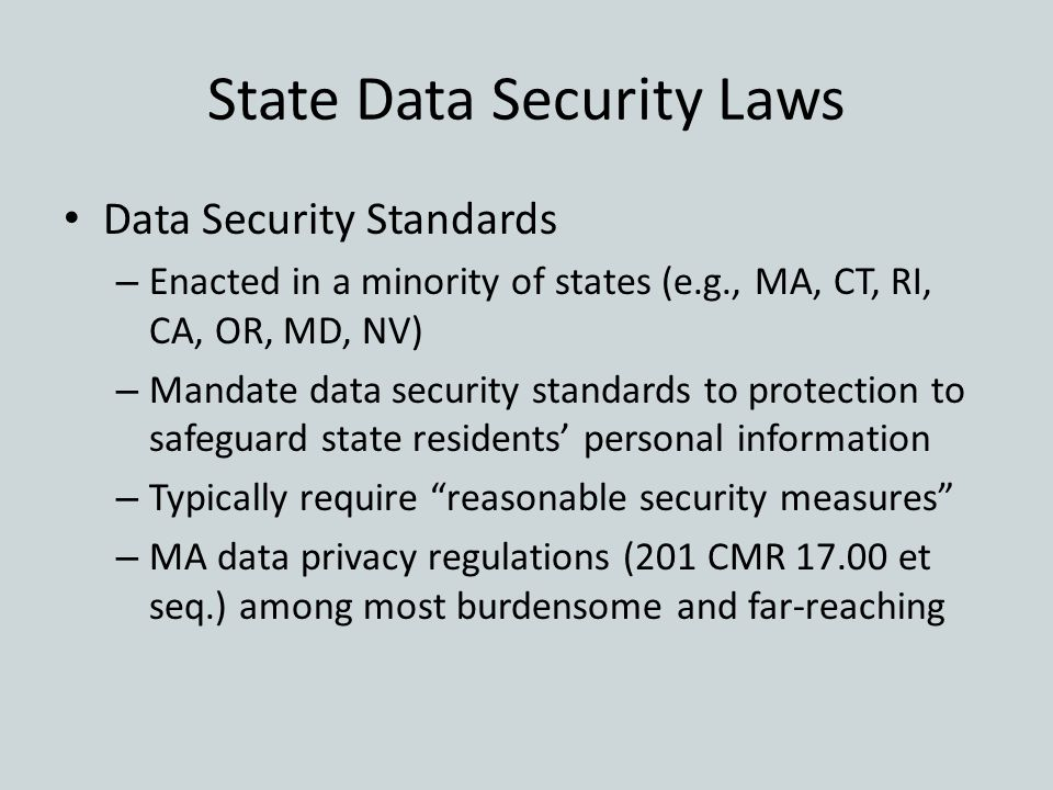 State Data Security Laws