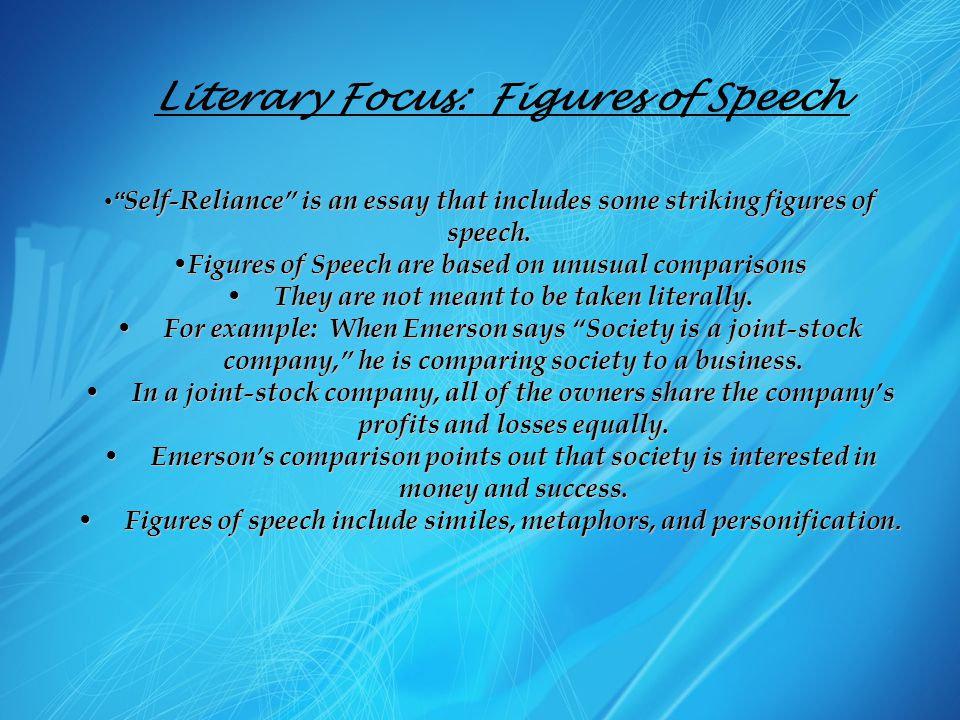 Literary Focus: Figures of Speech