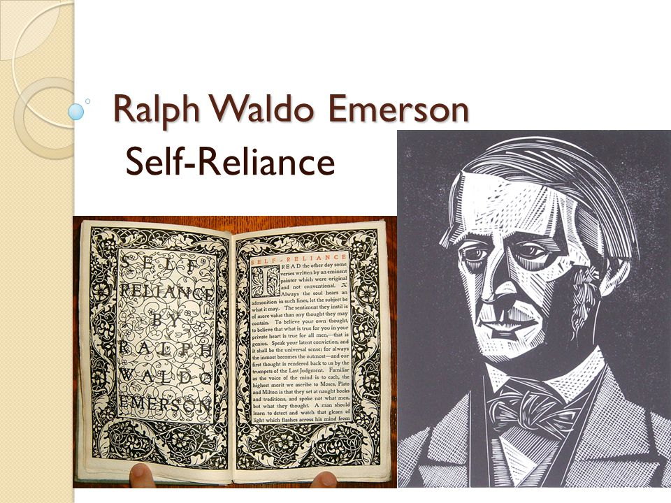 an overview of ralph waldo emersons self reliance concept of the over soul