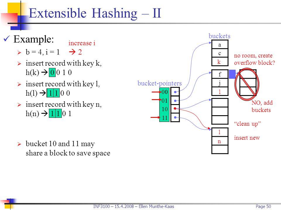 Extensible Hashing – II