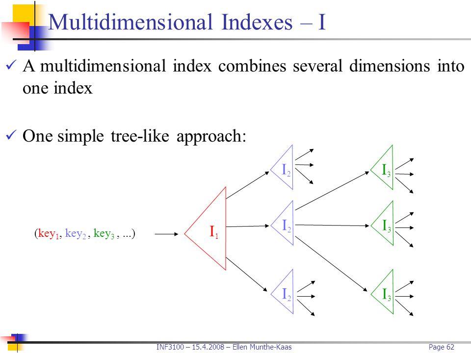 Multidimensional Indexes – I