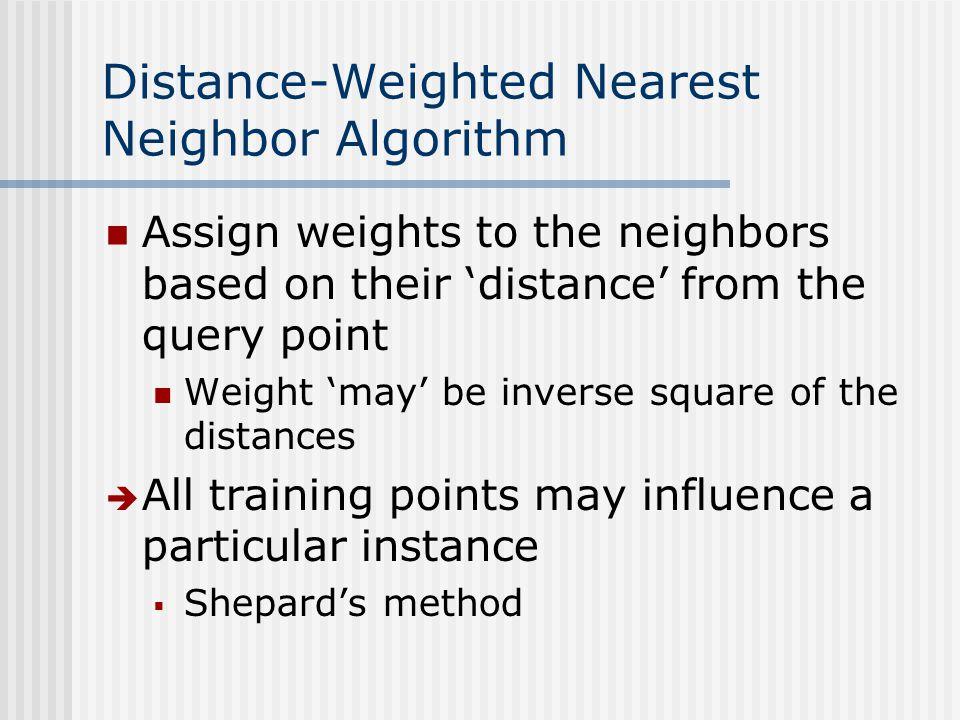 Distance-Weighted Nearest Neighbor Algorithm