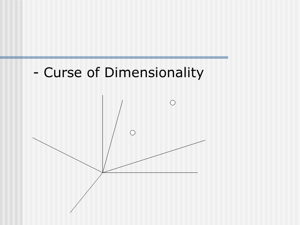 - Curse of Dimensionality