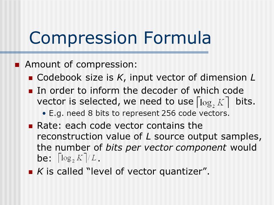 Compression Formula Amount of compression: