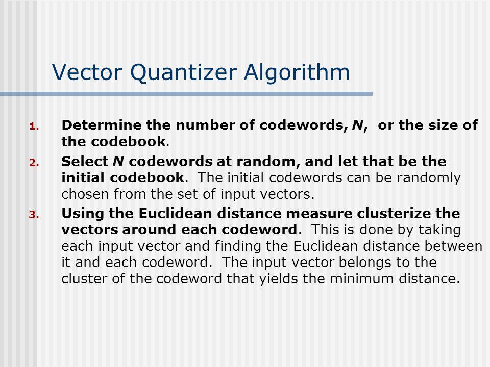 Vector Quantizer Algorithm