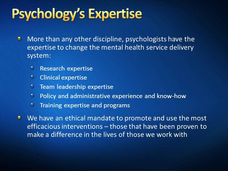 Psychology's Expertise