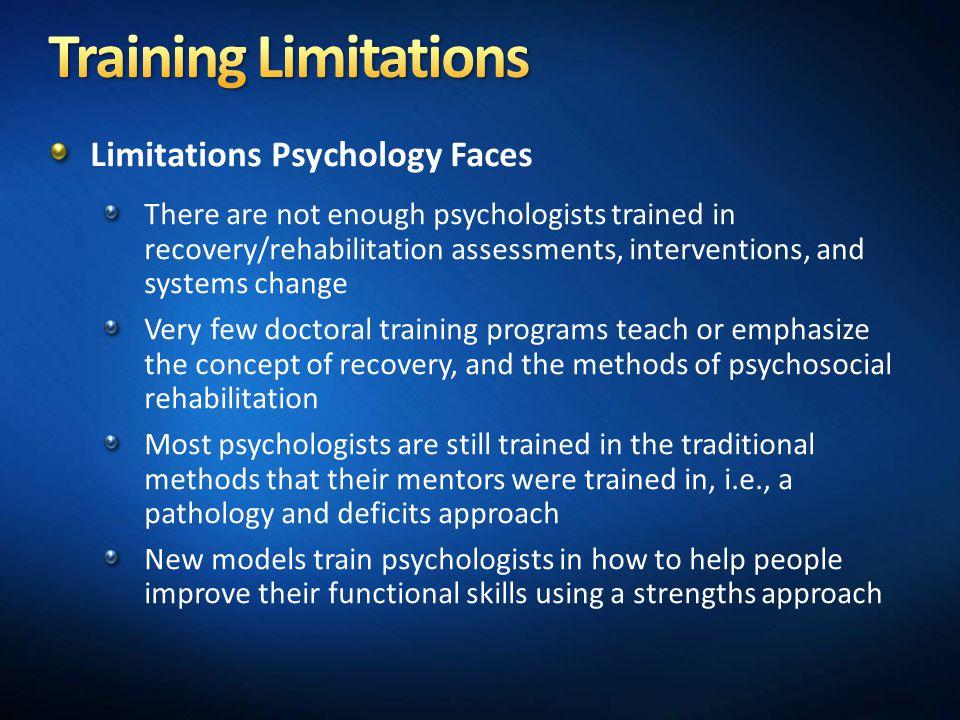 Training Limitations Limitations Psychology Faces