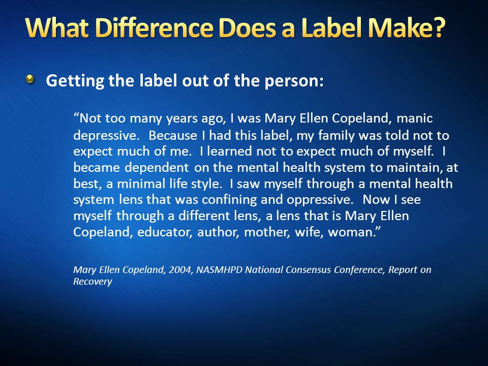 What Difference Does a Label Make