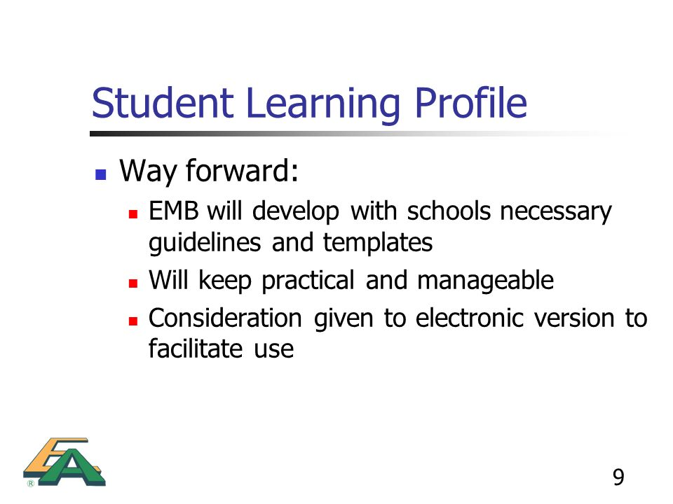 Student Learning Profile