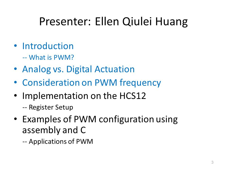 Presenter: Ellen Qiulei Huang