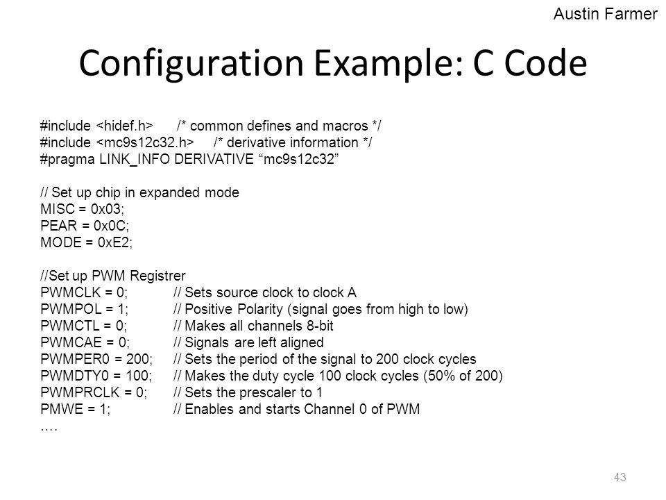 Configuration Example: C Code