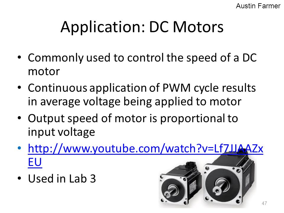Application: DC Motors