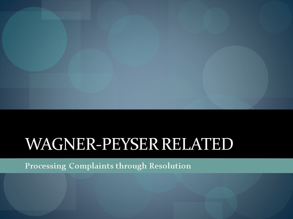 Wagner-Peyser related