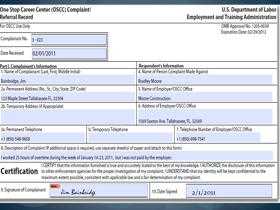 The first step of the complaint process would be to provide the complainant with an overview of how the complaint system operates to include the data collection process, reassurance of confidentiality to the extent possible and an explanation about how the customer will be informed of the progress and resolution of the issue.