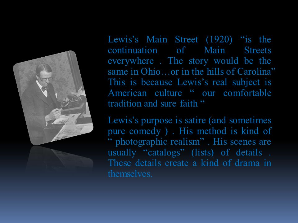 Sinclair Lewis (1885-1951)