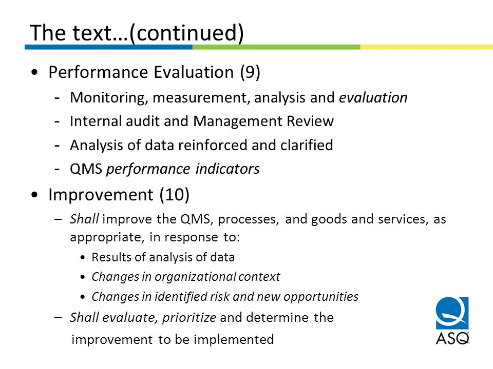 The text…(continued) Performance Evaluation (9) Improvement (10)