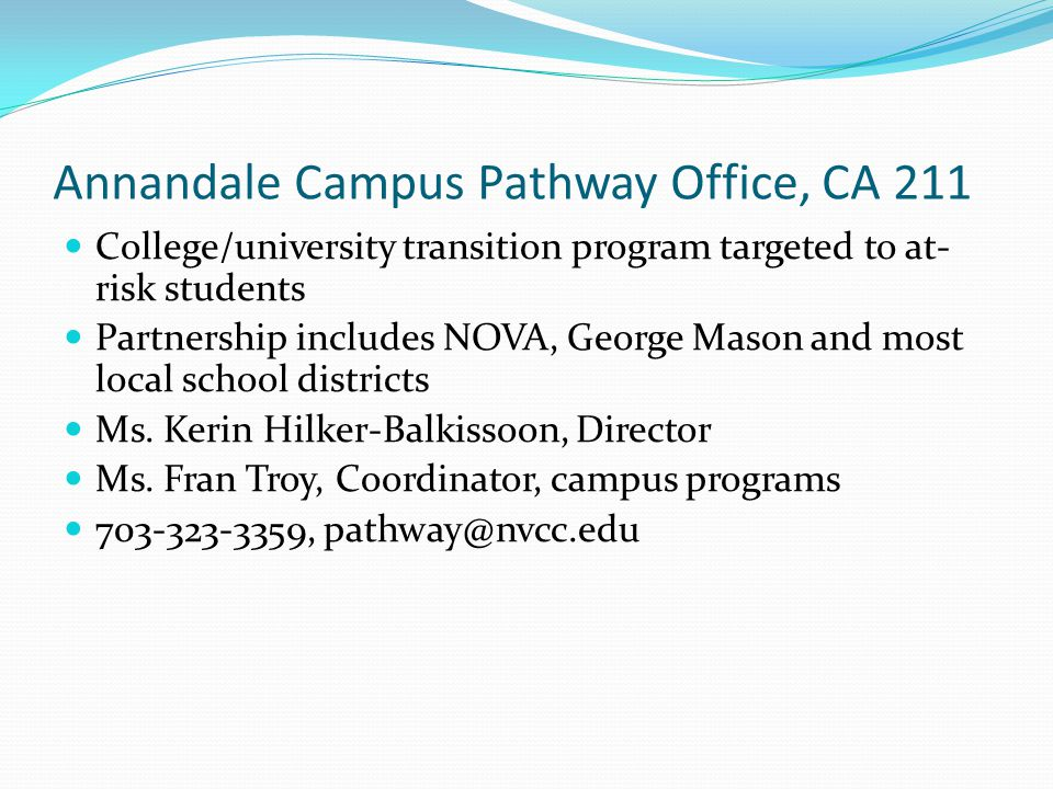Annandale Campus Pathway Office, CA 211