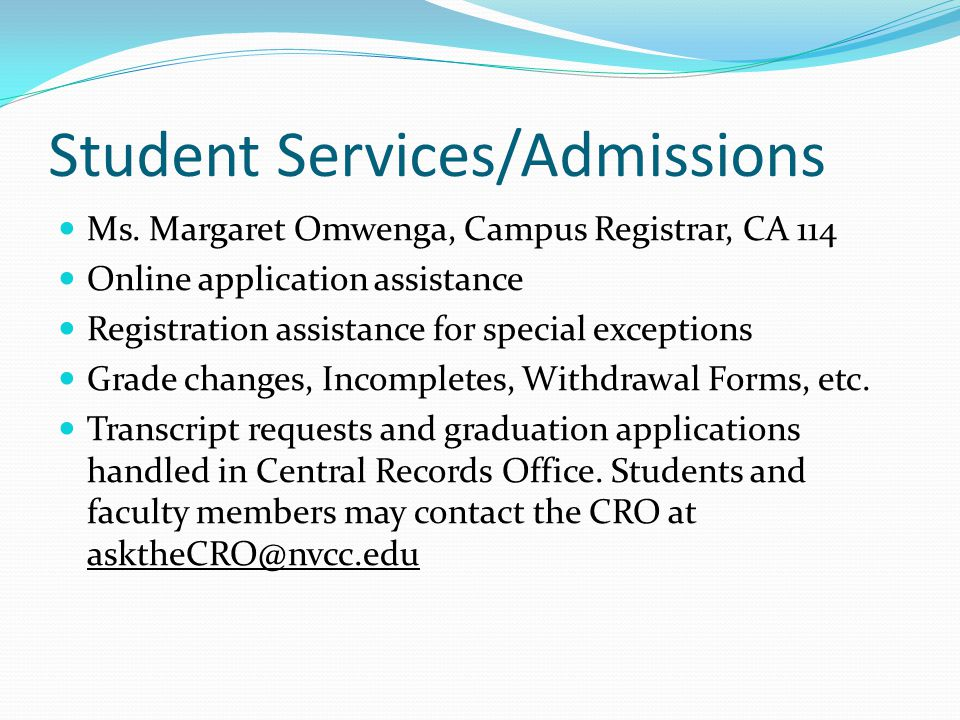 Student Services/Admissions
