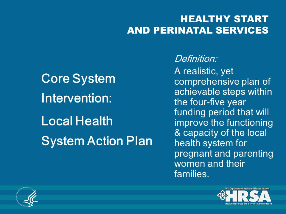 Core System Intervention: Local Health System Action Plan