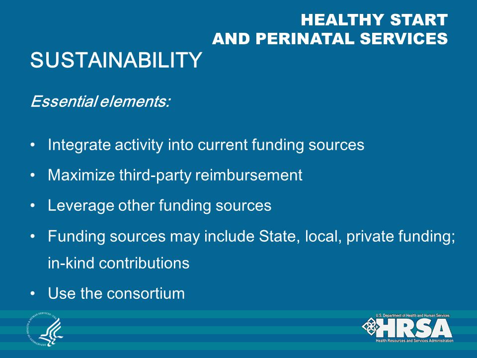 SUSTAINABILITY HEALTHY START AND PERINATAL SERVICES