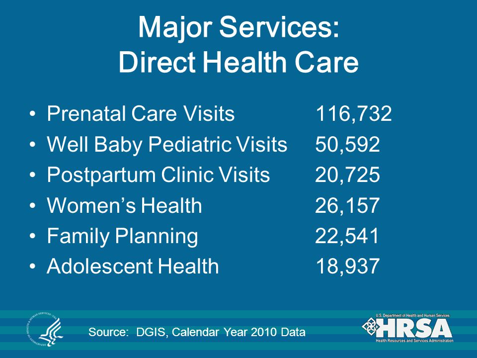 Major Services: Direct Health Care