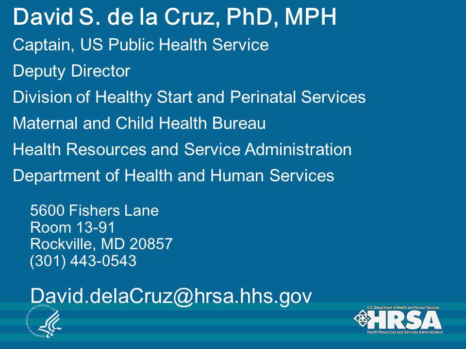 David S. de la Cruz, PhD, MPH
