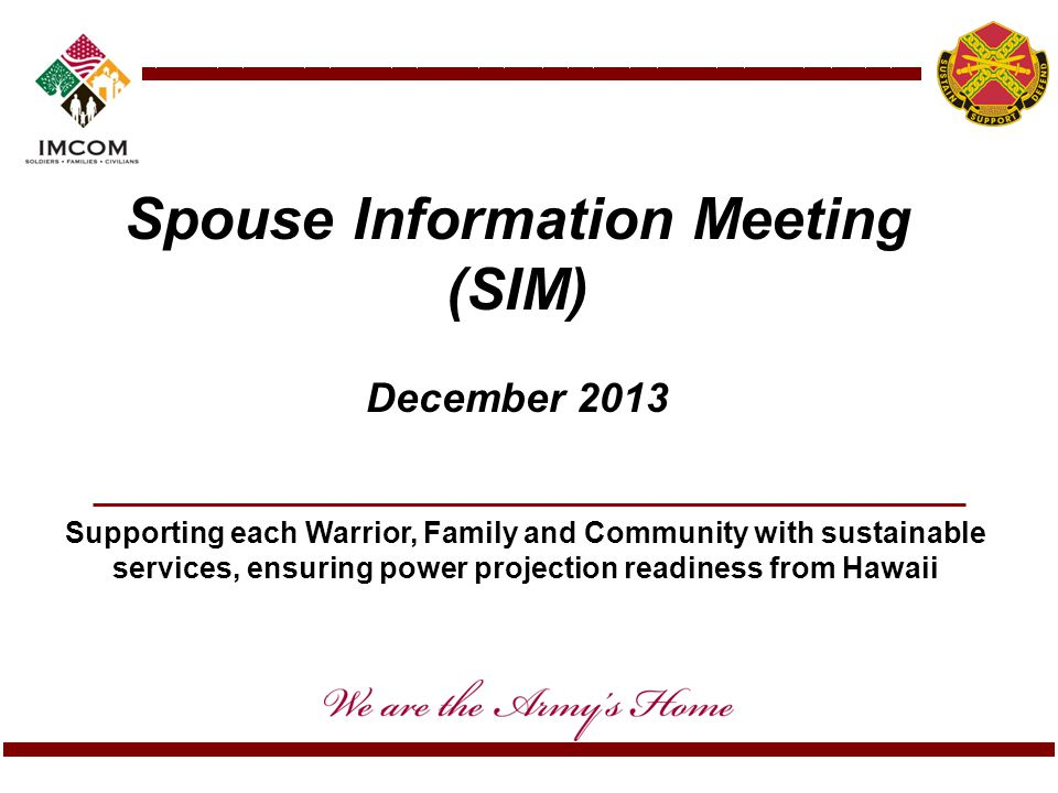 Spouse Information Meeting