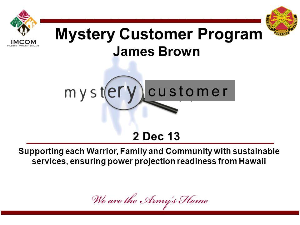 Mystery Customer Program