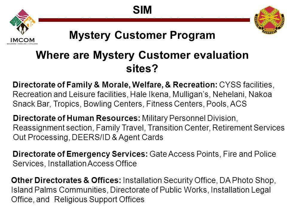 Mystery Customer Program Where are Mystery Customer evaluation sites