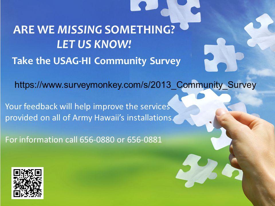 Take the USAG-HI Community Survey