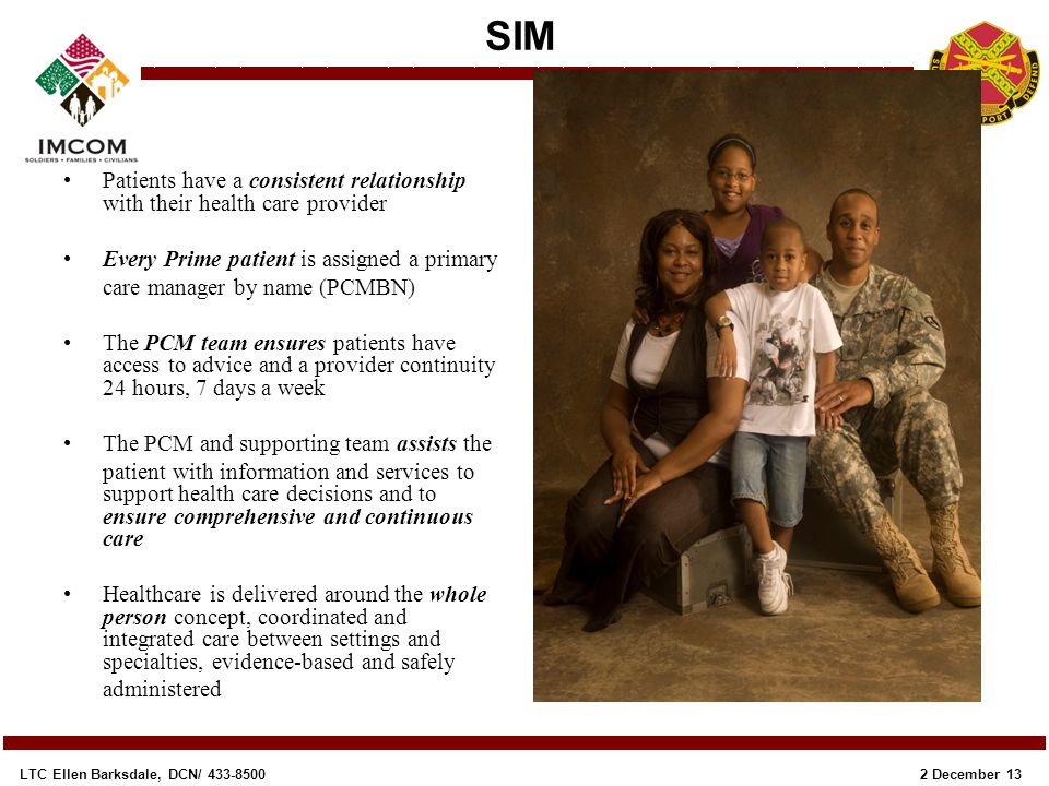 Every Prime patient is assigned a primary care manager by name (PCMBN)