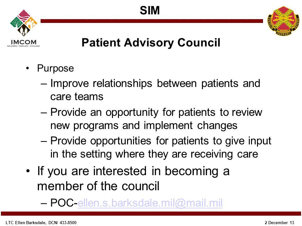 Patient Advisory Council