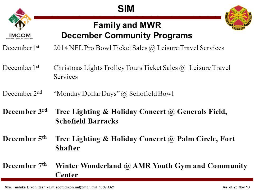 December Community Programs