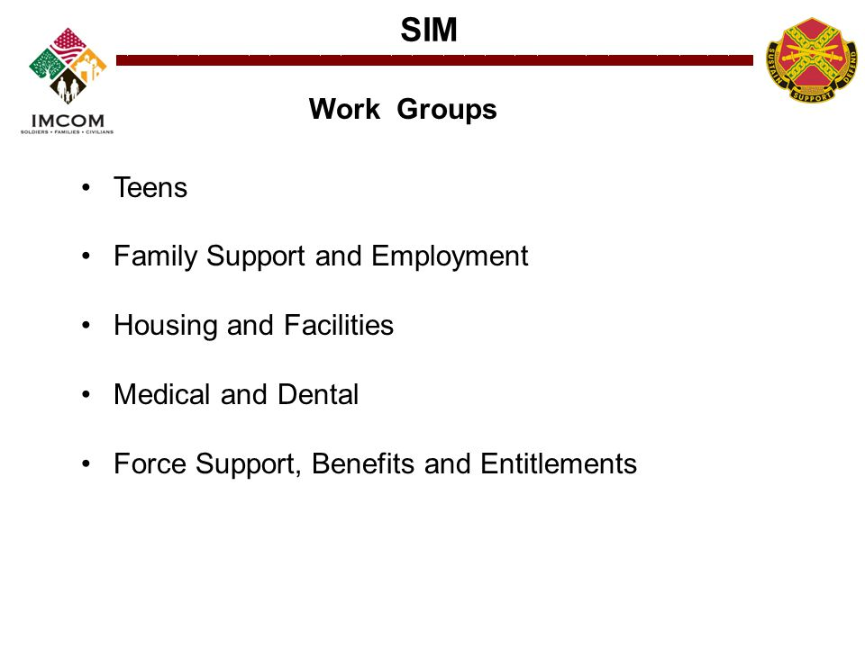 Work Groups Teens. Family Support and Employment.