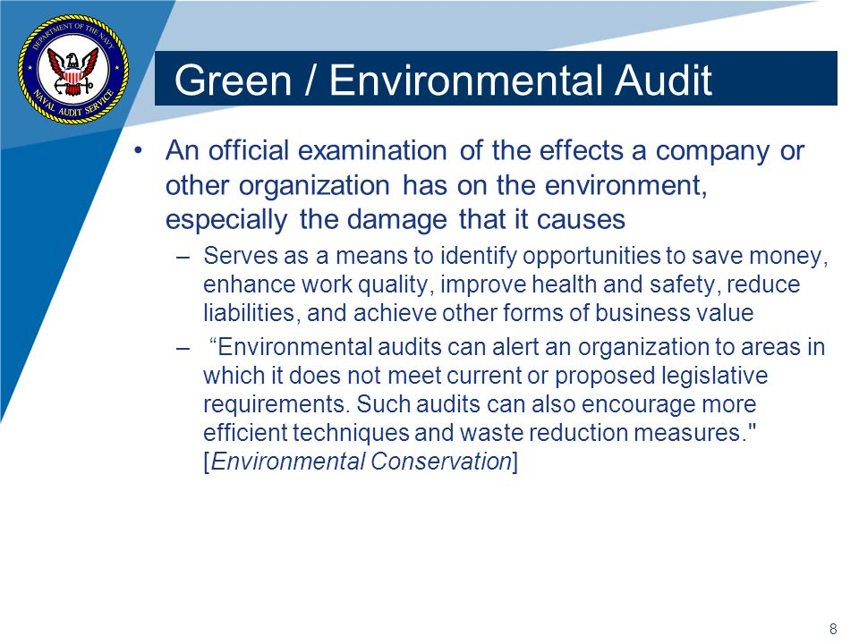 Green / Environmental Audit