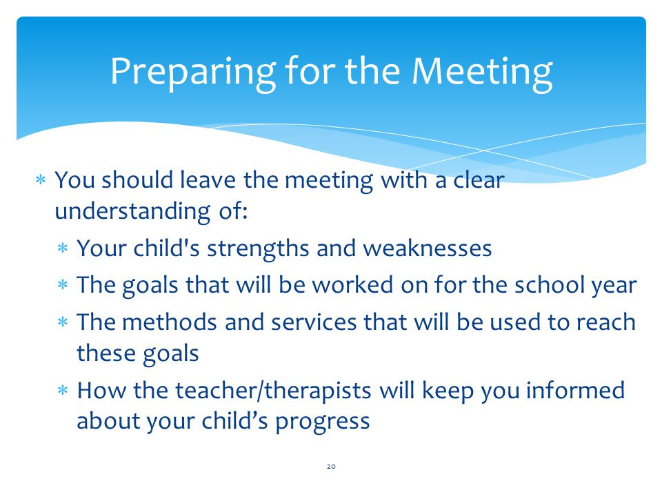 Preparing for the Meeting