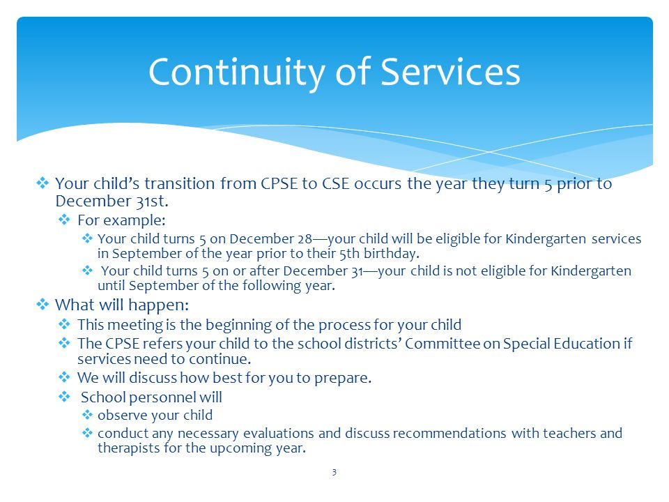 Continuity of Services
