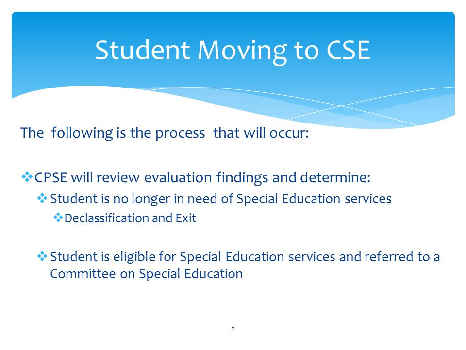 Student Moving to CSE The following is the process that will occur: