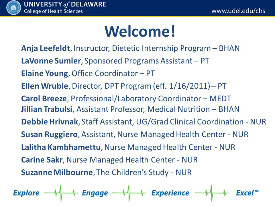 Welcome! Anja Leefeldt, Instructor, Dietetic Internship Program – BHAN