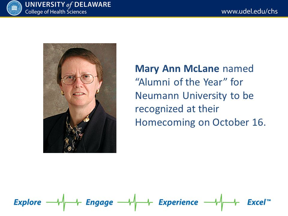 Mary Ann McLane named Alumni of the Year for Neumann University to be recognized at their Homecoming on October 16.