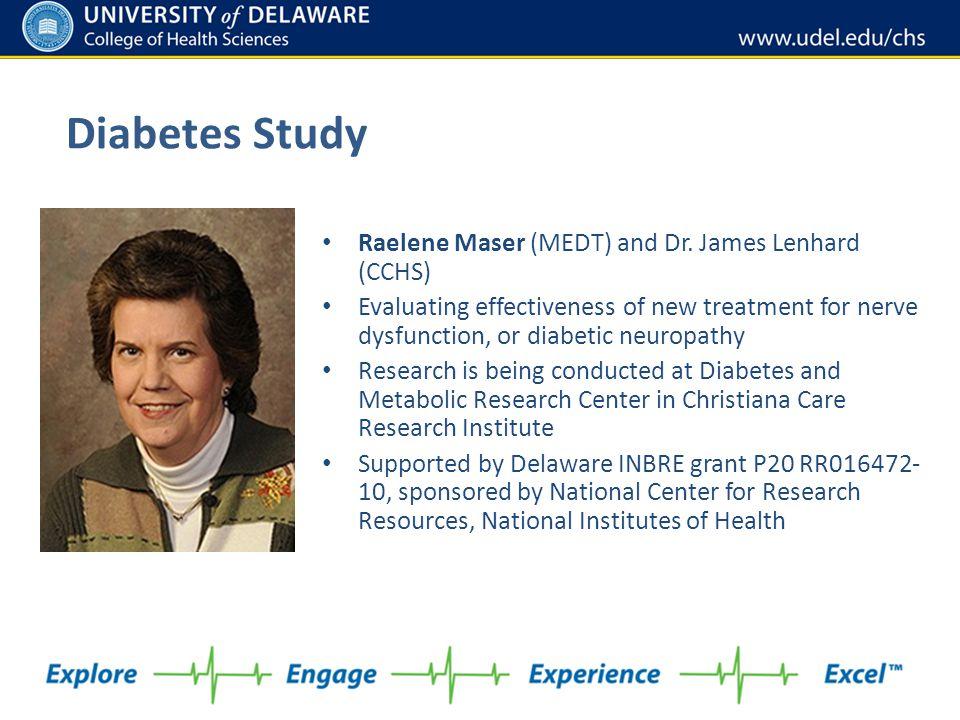 Diabetes Study Raelene Maser (MEDT) and Dr. James Lenhard (CCHS)