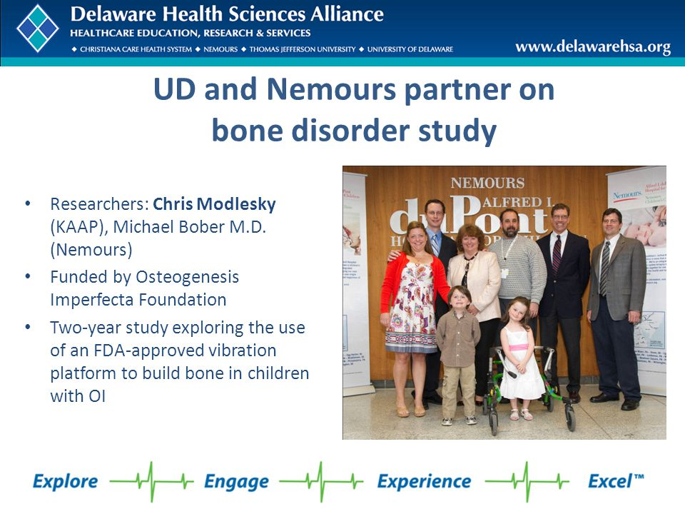 UD and Nemours partner on bone disorder study