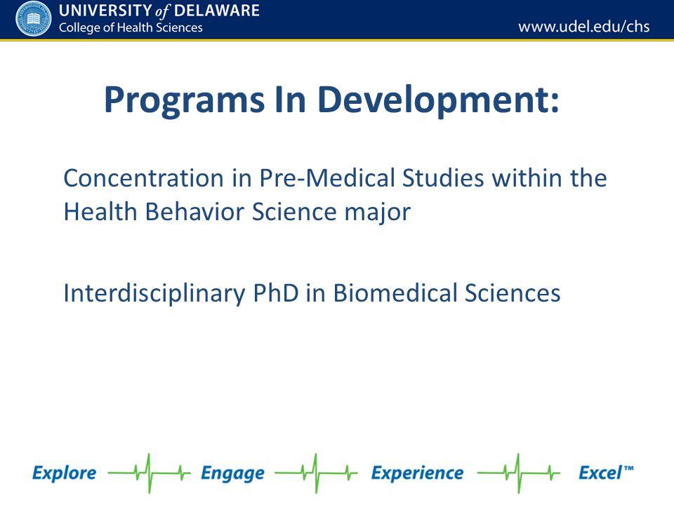 Programs In Development:
